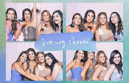 Photo booth strip from a wedding