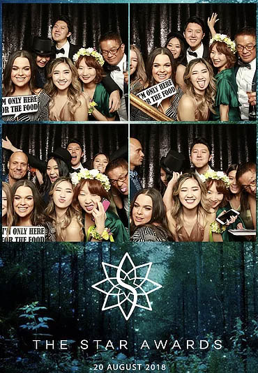 Photo booth strip from an event