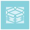 light blue icon box