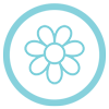light blue flower icon