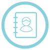 light blue guest icon