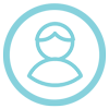 light blue icon person