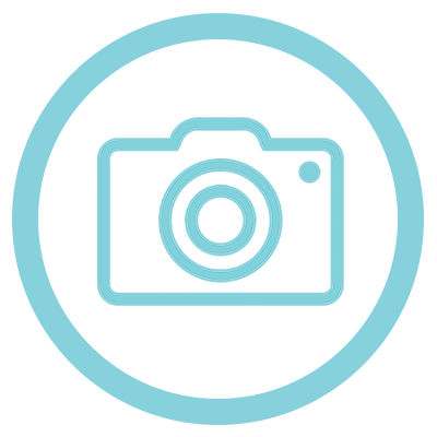 camera icon turquoise