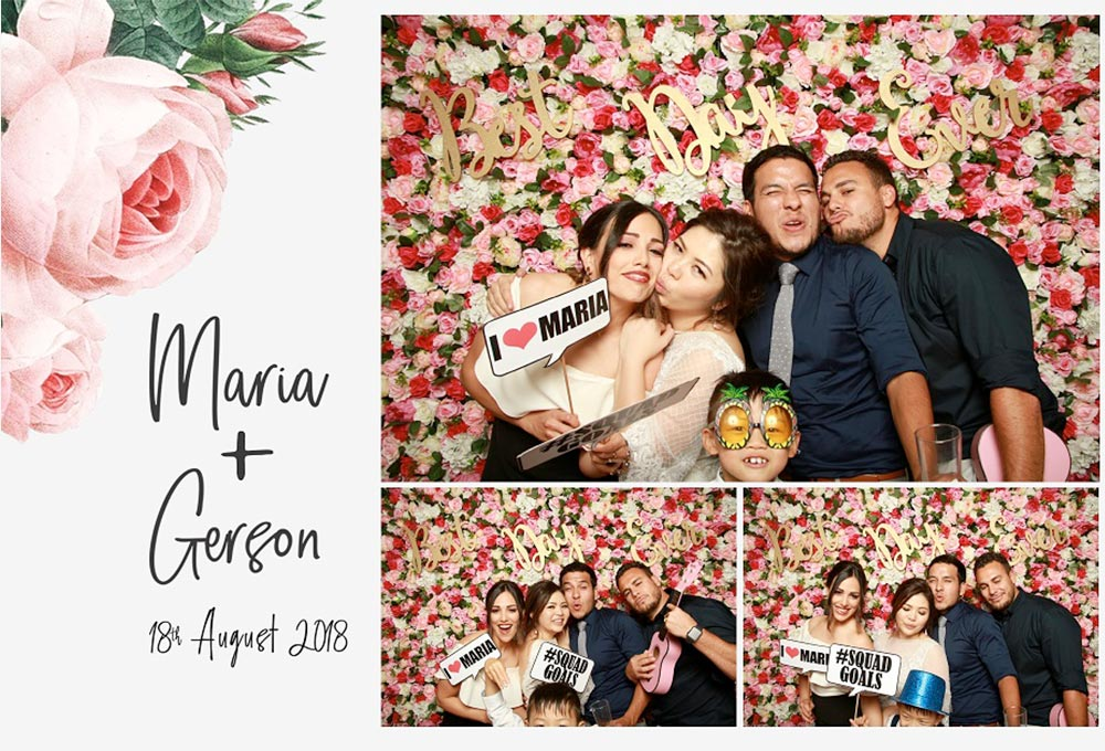 Wedding photo booth print