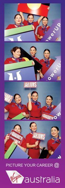 Four photo strip Virgin Australia