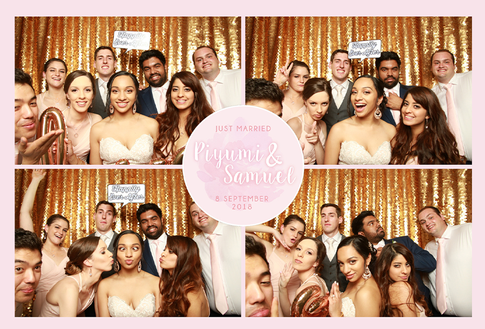 Bridal party photo booth print
